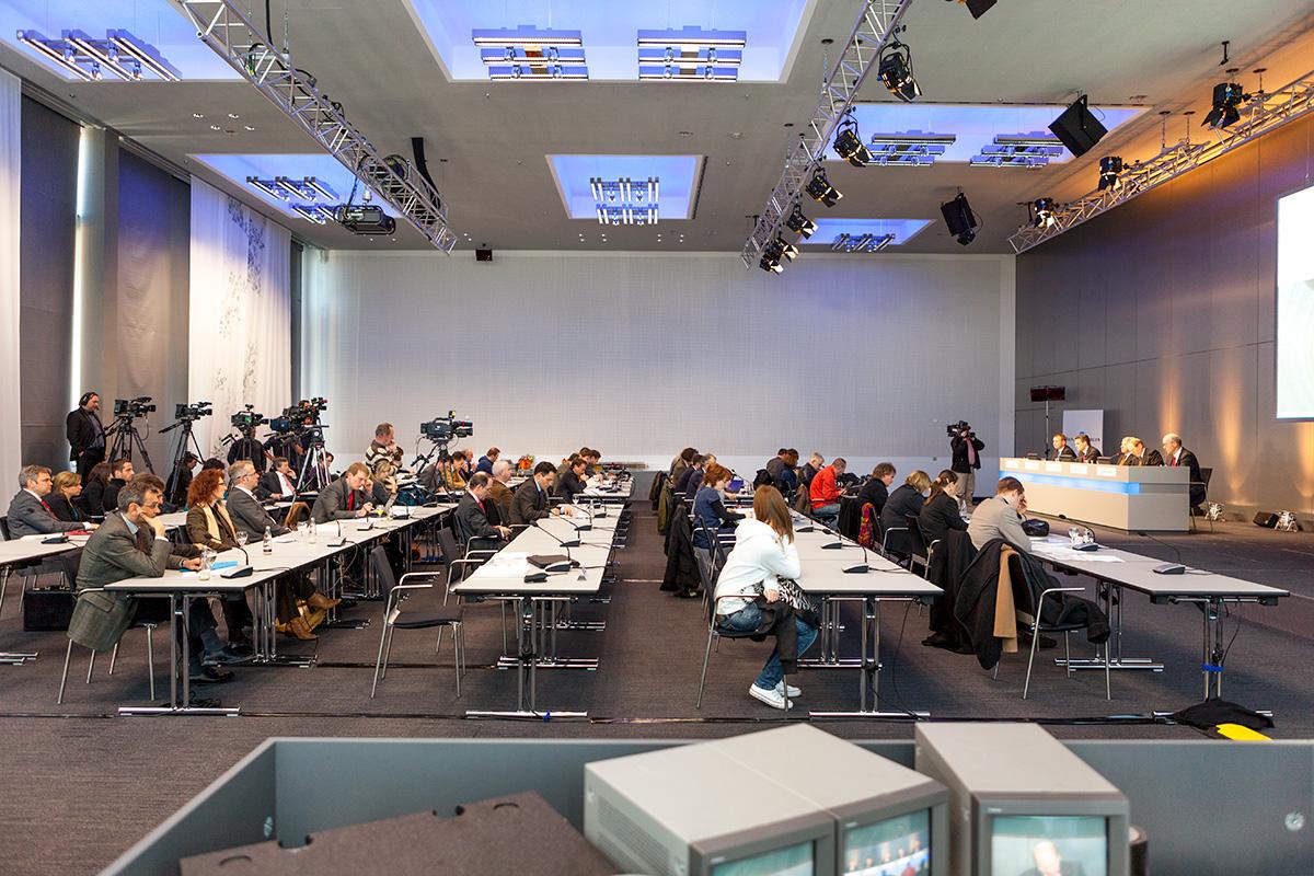Krisen Pressekonferenz adhoc