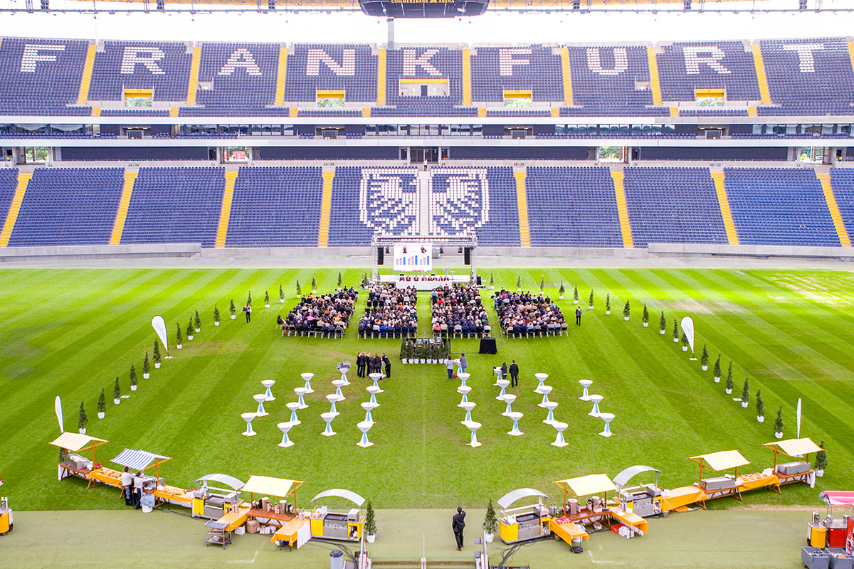 Konzeption und Planung Managementmeeting Firmenfusion Commerzbank Arena