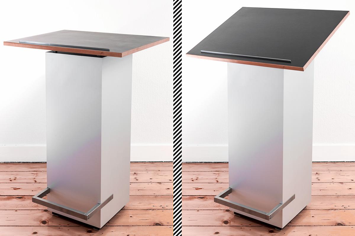 Sonderanfertigung Stehpult elektrisch fernbedienbar